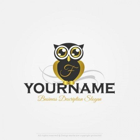 Create Online Alphabet Owl Logo With Our Free Logo Maker