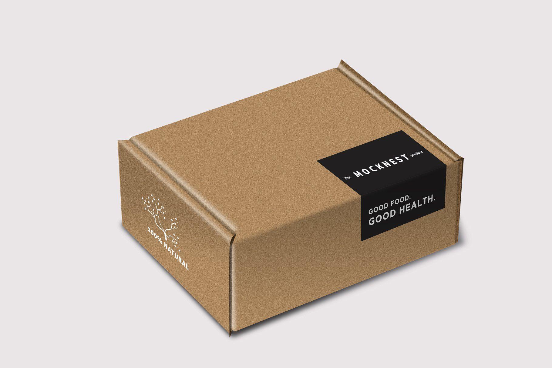 Download Cardboard Box Mockup Packaging Stickers Box Packaging Design Food Box Packaging