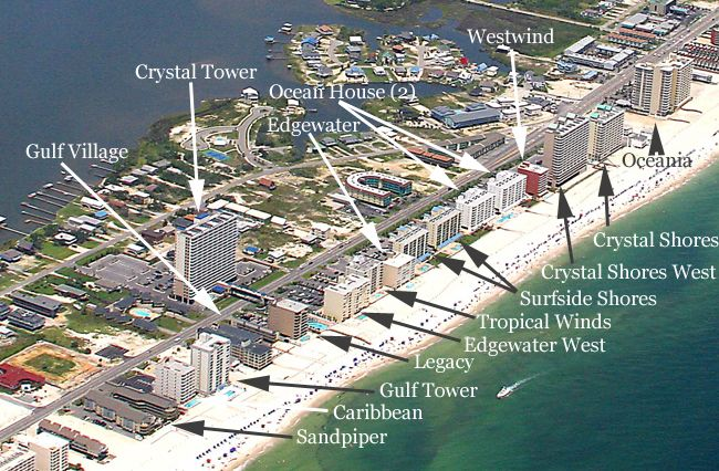Map Of Gulf Shores Alabama Gulf Shores AL Condo Map. On the beautiful white sandy beaches of