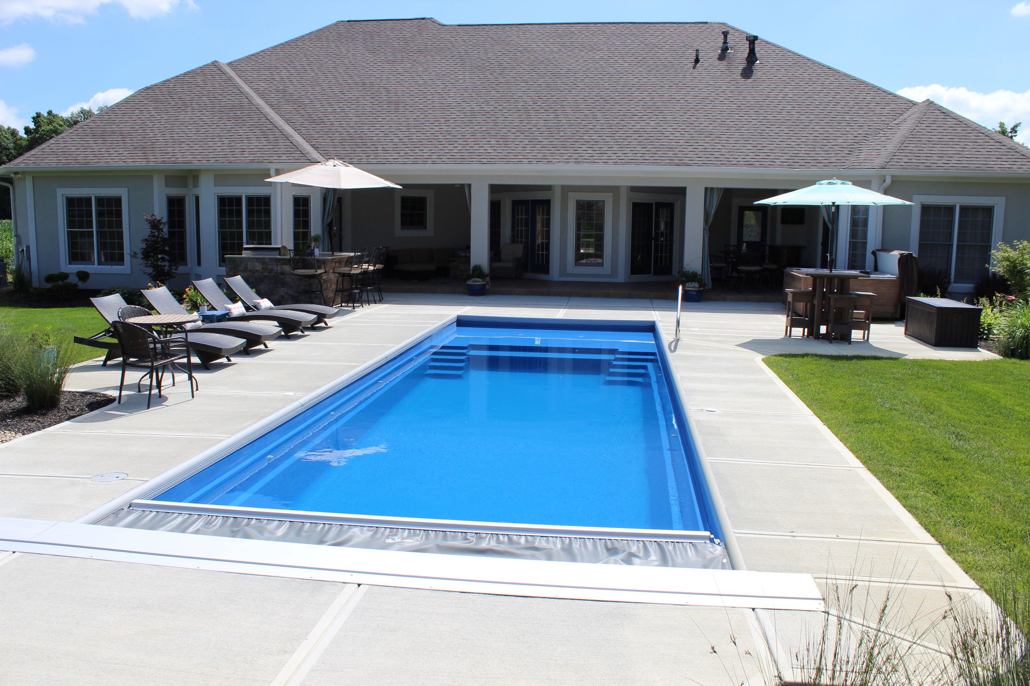 Imagine Pools The Freedom 23 Backyard Pool Designs Fiberglass Swimming Pools Swimming Pools