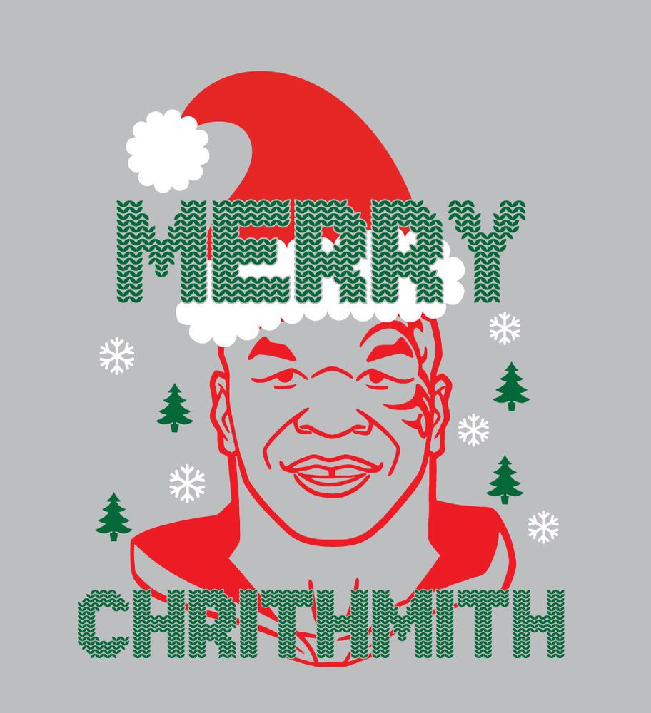 Merry Chrithmith Mike Tyson Christmas Raglan Or T Shirt Holiday Shirt Boxing Christmas Raglan Holiday Shirts Boxing Shirts