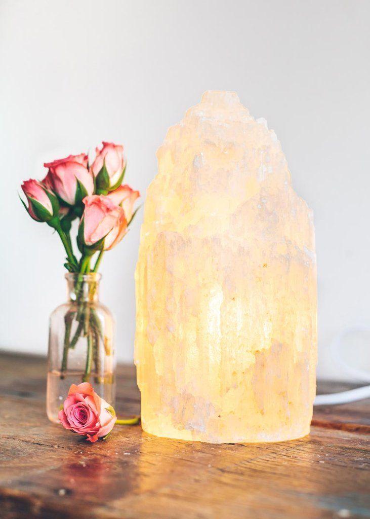 LARGE Selenite Lamp* Selentie Tower* Crystal Lamp* Home ...  Decorating With Selenite