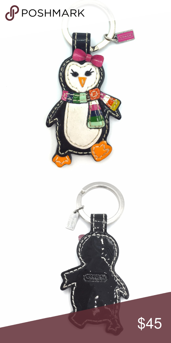 Authentic Coach Penguin Keychain Adorable Preloved Coach