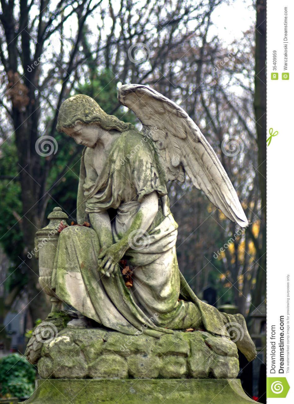 famous angel statues statue of an angel at powazki cemetery warsaw poland the oldest and