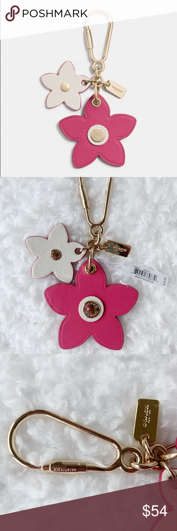 Nwt Coach Flowers Leather Bag Charm For Sale Is The Very Dainty