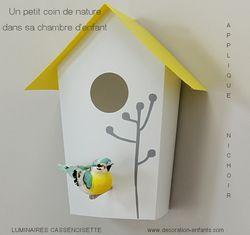 Applique murale chambre bébé : Nichoir oiseau | DIY nursery / déco ...