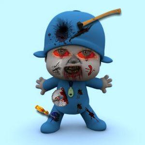 Zombified Kids TV Characters