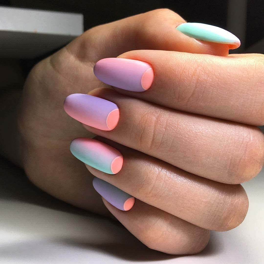 Beautiful Moon Nails Ideas Of Colorful Nails Ideas Of Gradient Nails Mix Match Nails Nails Trends Ombre Nail Designs Best Nail Art Designs Pink Ombre Nails