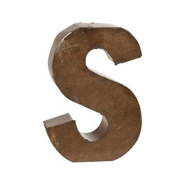 Bronze Finish Letter S  Bronze Finish Gallery Wall And Decorating