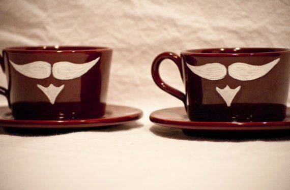 Demitasse Mustache Set