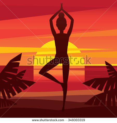 woman standing in yoga pose vrikshasana  mental balance
