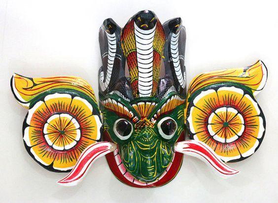 Wall Decoration Stickers In Sri Lanka : Sri lanka traditional wall mask gara yaka raksha of by