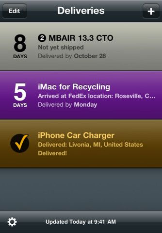 Delivery Status touch, a package tracker iPhone and iPad app by Junecloud LLC. Genre: Utilities application. Price: $4.99.