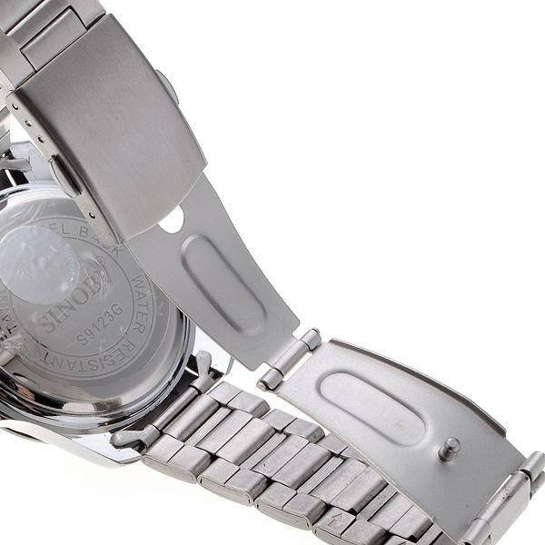 Men's White Steel Band Quartz Wrist Watch