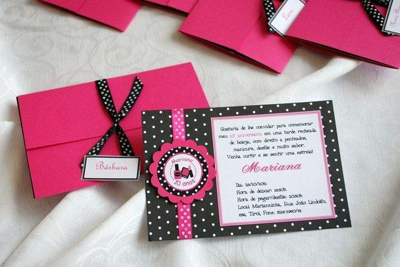 beauty party invitations Invitation Birthday Beauty Salon Party