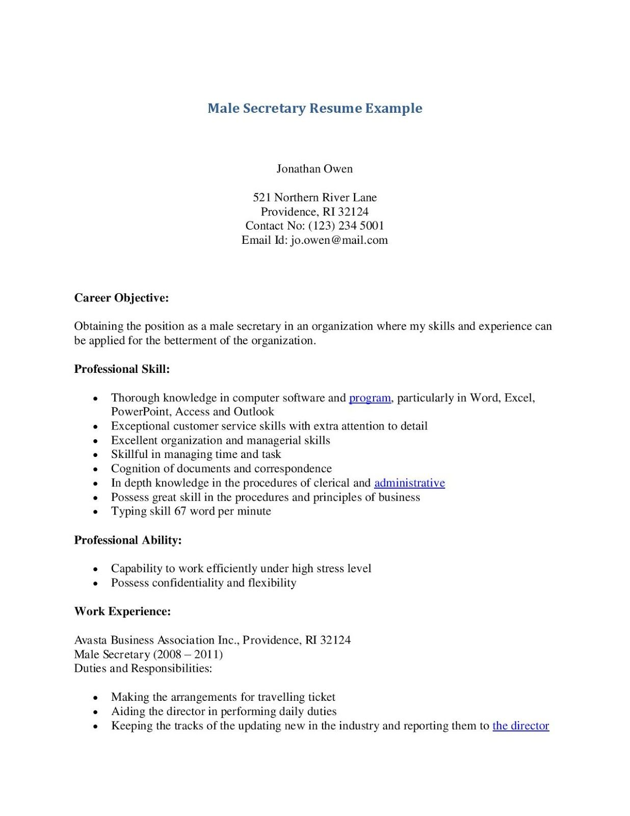 Secretary Resume Examples Secretary Resume Examples 2019 Secretary Resume Examples 2020 Secretary R Resume Examples Job Resume Examples Best Resume Template