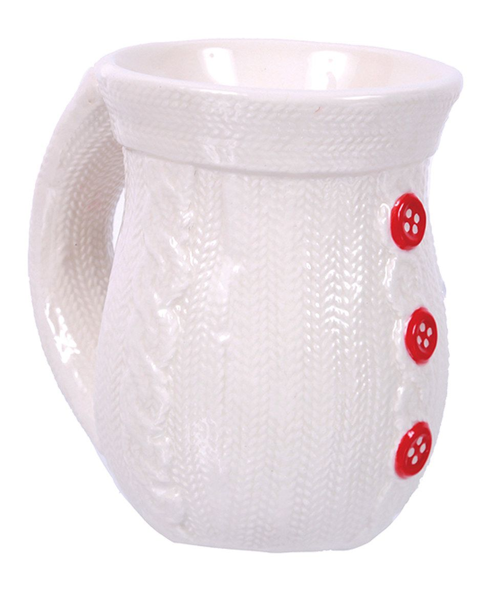 c2f1876ac Love this White Sweater-Texture Holiday Mug by DEI on  zulily ...