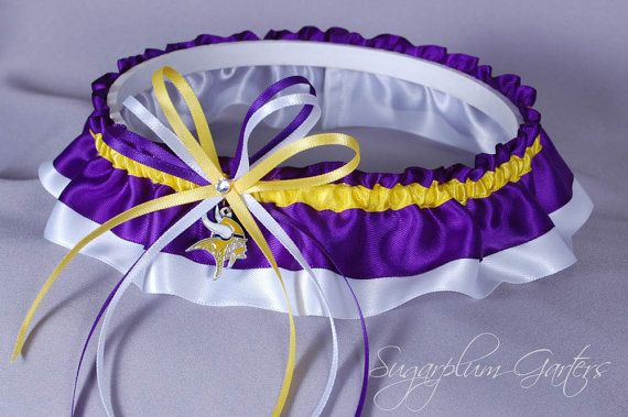 Custom Minnesota Vikings Wedding Garter by sugarplumgarters, $31.99