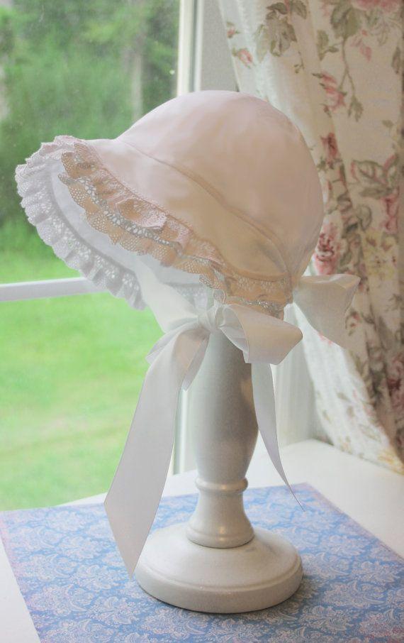 Christening Bonnet - Baby Bonnet - Baby Hat - Summer Sun Bonnet ...