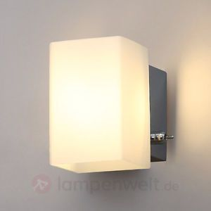 led wandlampe gisela glas glasschirm wei leds wandleuchte. Black Bedroom Furniture Sets. Home Design Ideas