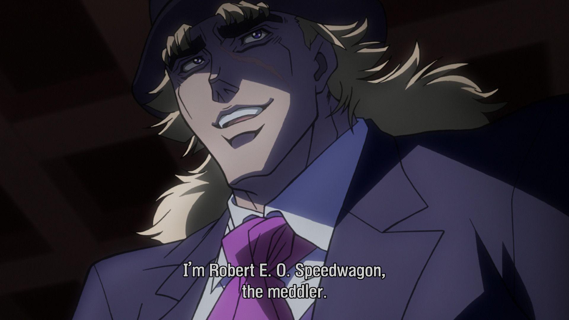 Speedwagon, The Meddler. My new Anime Pinterest Anime