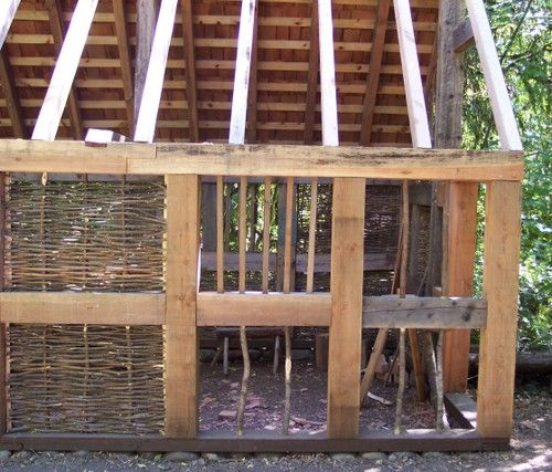 A gentleman is building this house using only medieval tools