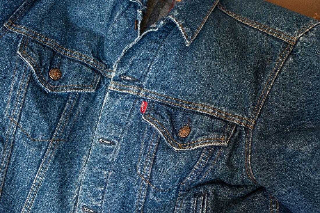 Levis Genuine Vintage Denim Blanket Lined Trucker Jacket, 1980's Vintage Size M $55 - Grailed