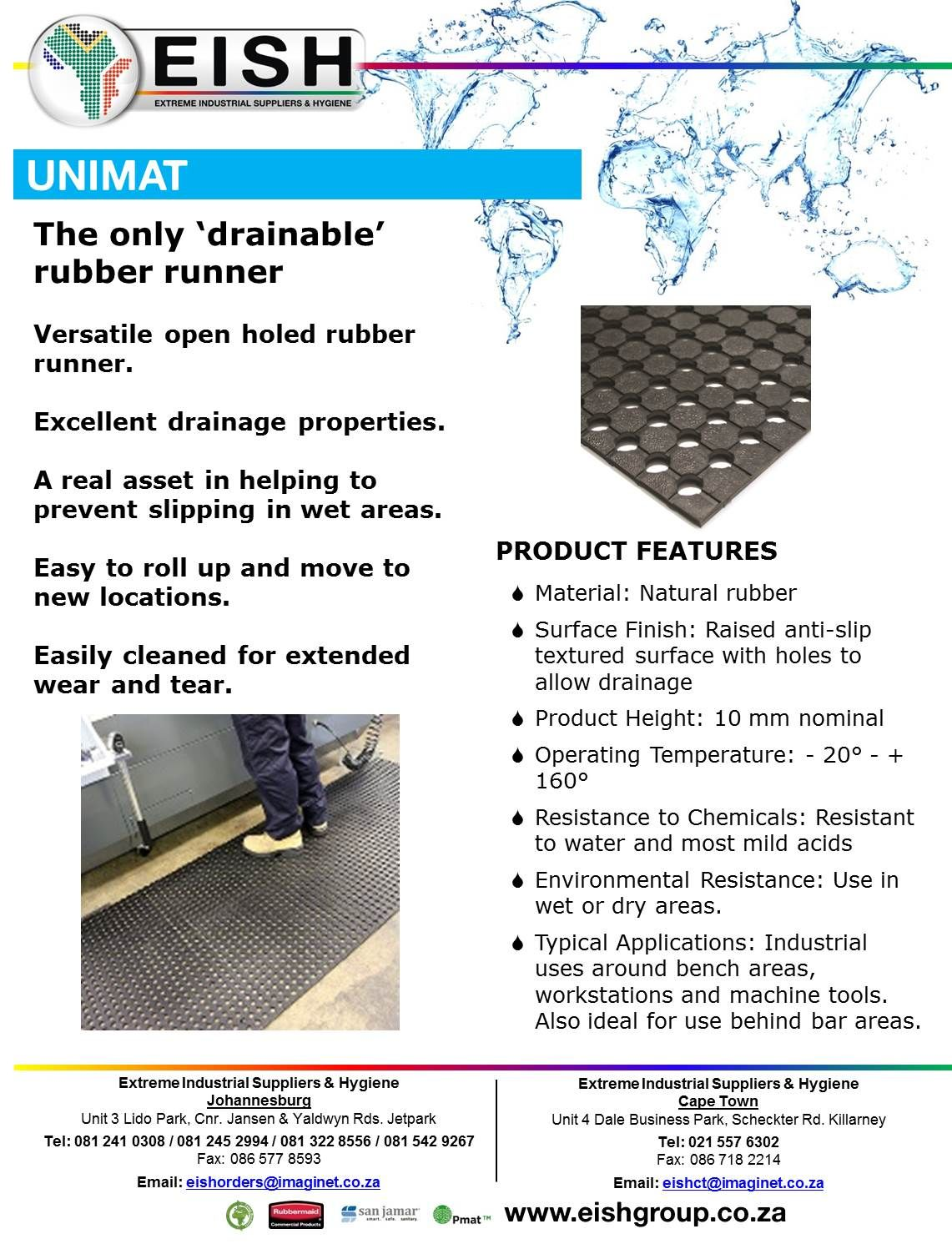The only \'drainable\' rubber runner Matting Solutions Extreme ...