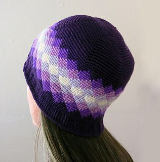 Crochet Pattern - Diamonds Beanie - $2.99 USD. Fair Isle crochet hat.