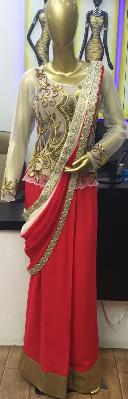 1 piece # indondraped saree