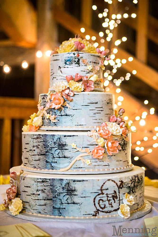 39 Must See Rustic Woodland Themed Wedding Cakes Wedding Planning