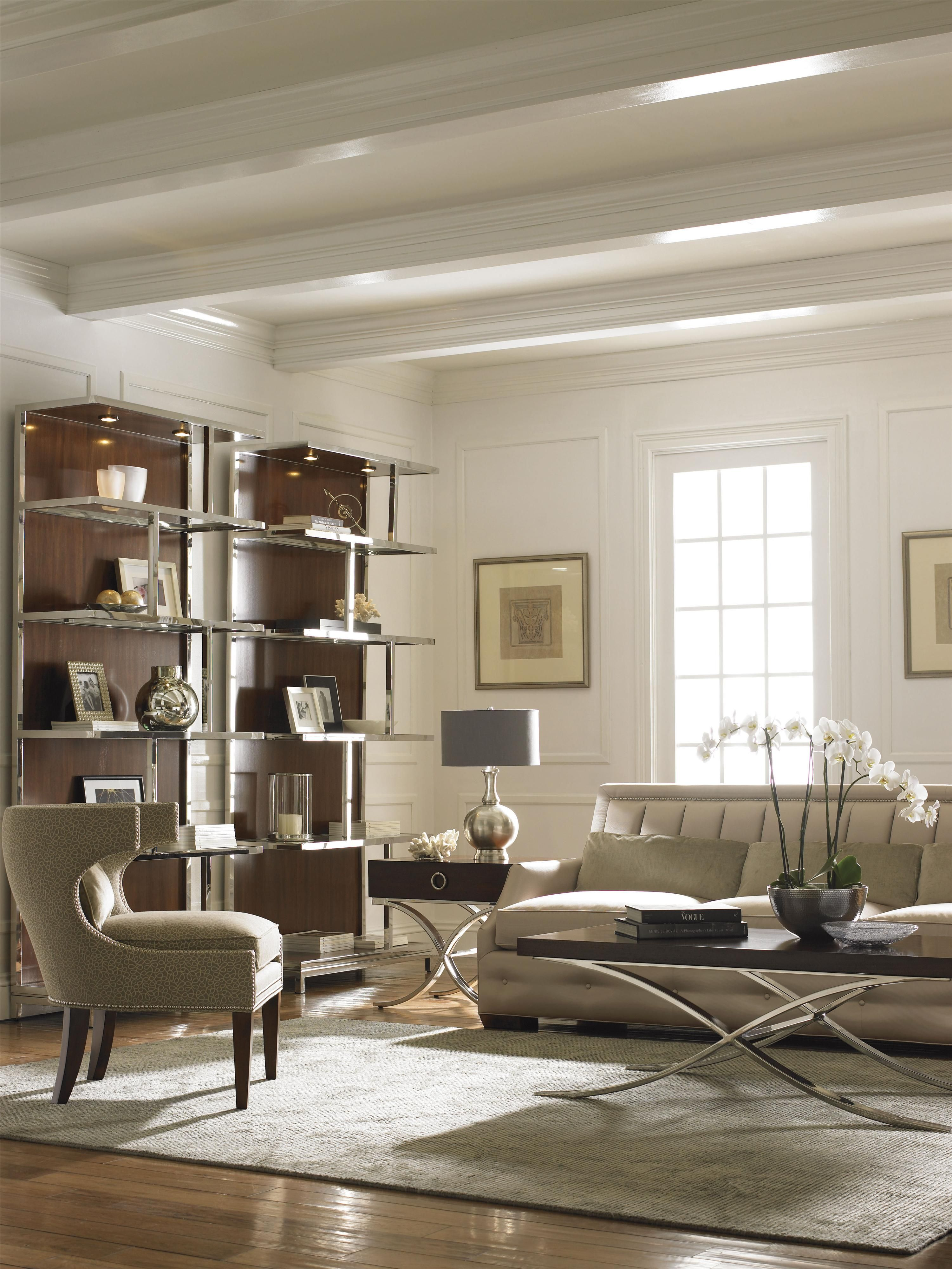 Mirage Kelly Bookcase By Lexington Living Room Decor