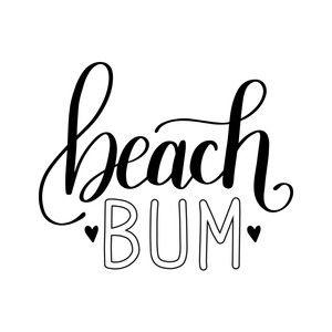 Silhouette Design Store: Beach Bum