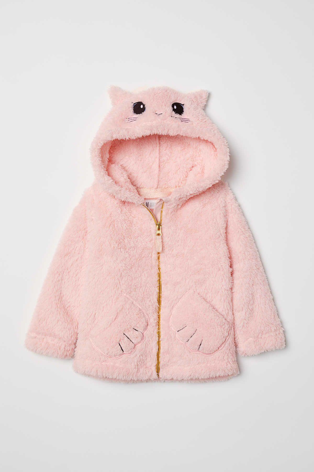 27036184a45f Chaqueta en tejido peluche   Rosa claro/Gato   NIÑOS   H&M MX   Baby ...