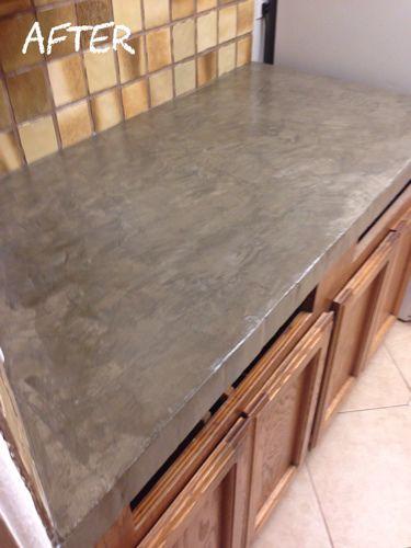Laying Encore Concrete Countertops Over Tile Jpg