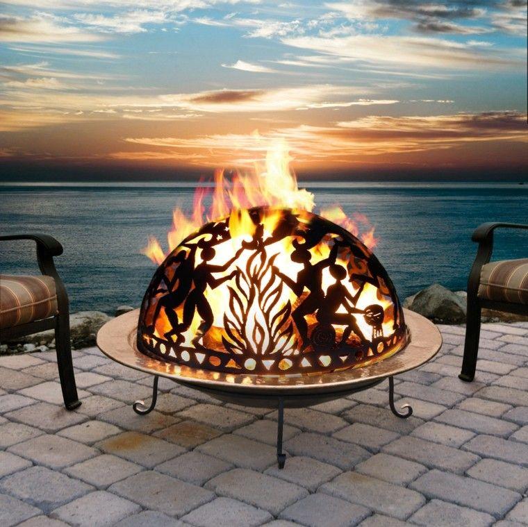 Mobiliario de jardín y pozos de fuego creativos. | De fuego, Fuego y ...