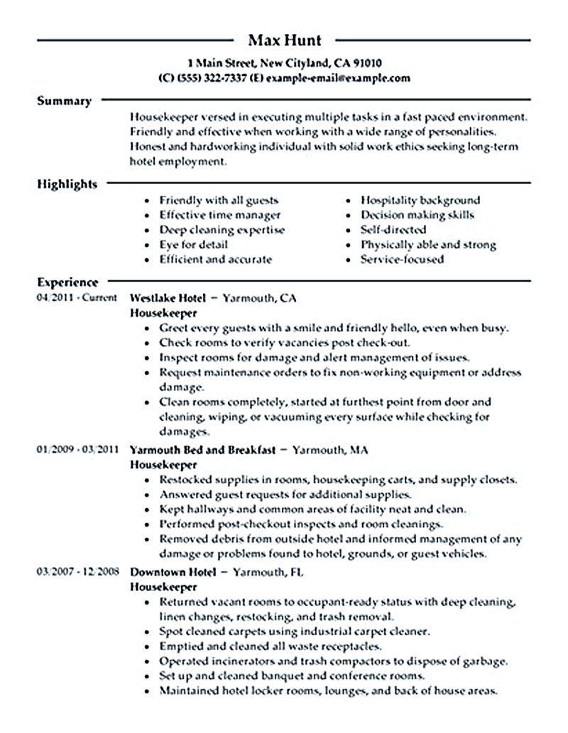 23+ Housekeeping resume objective ideas ideas in 2021