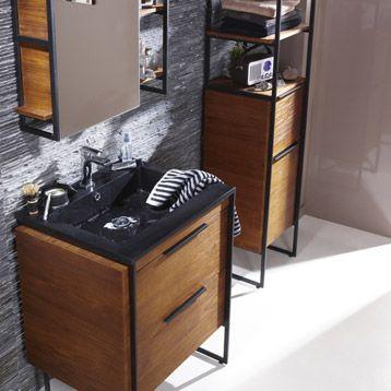 Meuble Sous Vasque Original Pour Salle De Bain Industrielle Buffet En Chene Et Metal Miroir En Chene Meuble Sous Vasque Meuble Sous Vasque Bois Meuble Vasque