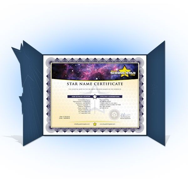 Name A Star Value Package Star Gift Packages Shining Star Star Gift Star Registry