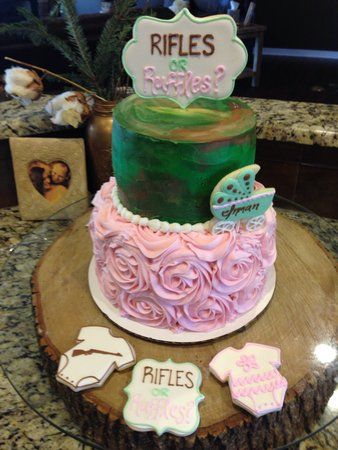 Rifles Or Ruffles Gender Reveal Cake Baby Jenkins