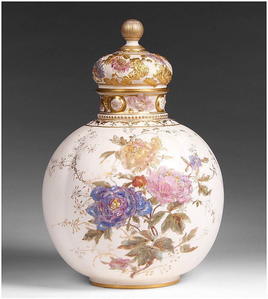19th c royal crown derby enameled vase with cover beautiful 19th c royal crown derby enameled vase with cover reviewsmspy