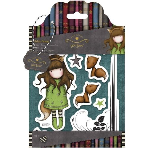 DoCrafts DoCrafts THE FOX Cling Stamps Gorjuss Urban decoupage kit