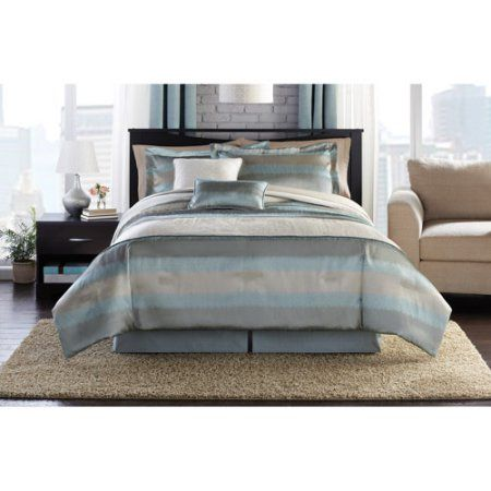 Hometrends Aqua Mist Bedding Comforter Set Blue