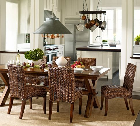 Seagrass Chair Pottery Barn In 2020 Wicker Dining Chairs Seagrass Dining Chairs Pottery Barn Living Room
