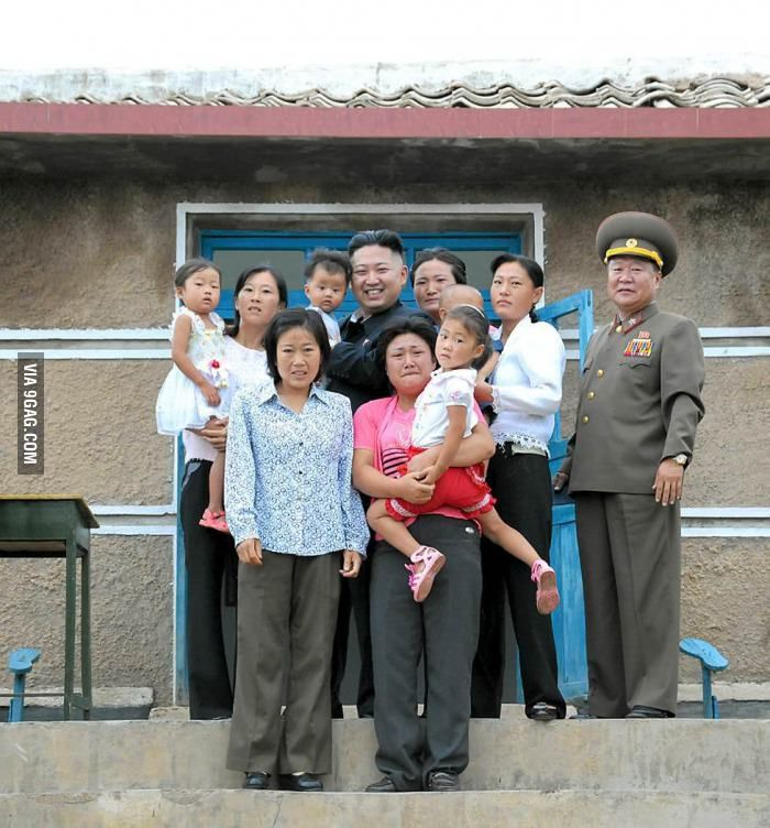 The faces of this North Korean family say it all