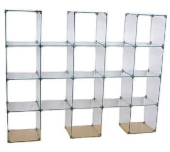 Glass Cube Display Unit Glass Display Stand Store Display Glass System Glass Store Glass Display Shelves Glass Shelves
