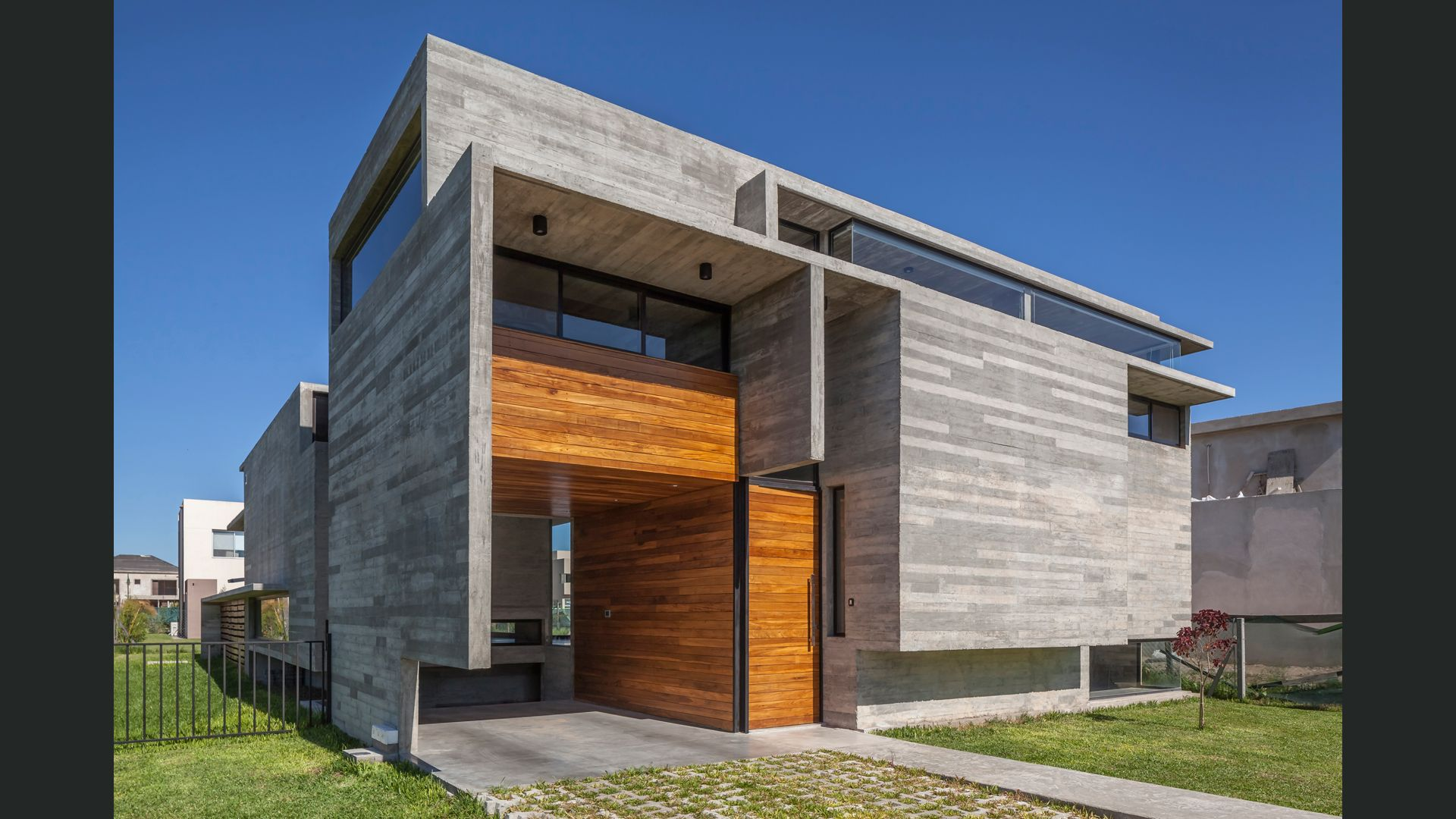 Modern Concrete Home Located In Los Troncos District Berazategui Buenos Aires Argentina Architect Besonias Almei Architecture Brutalist Architecture House