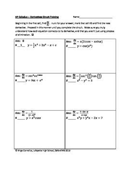 logarithmic differentiation practice problems pdf