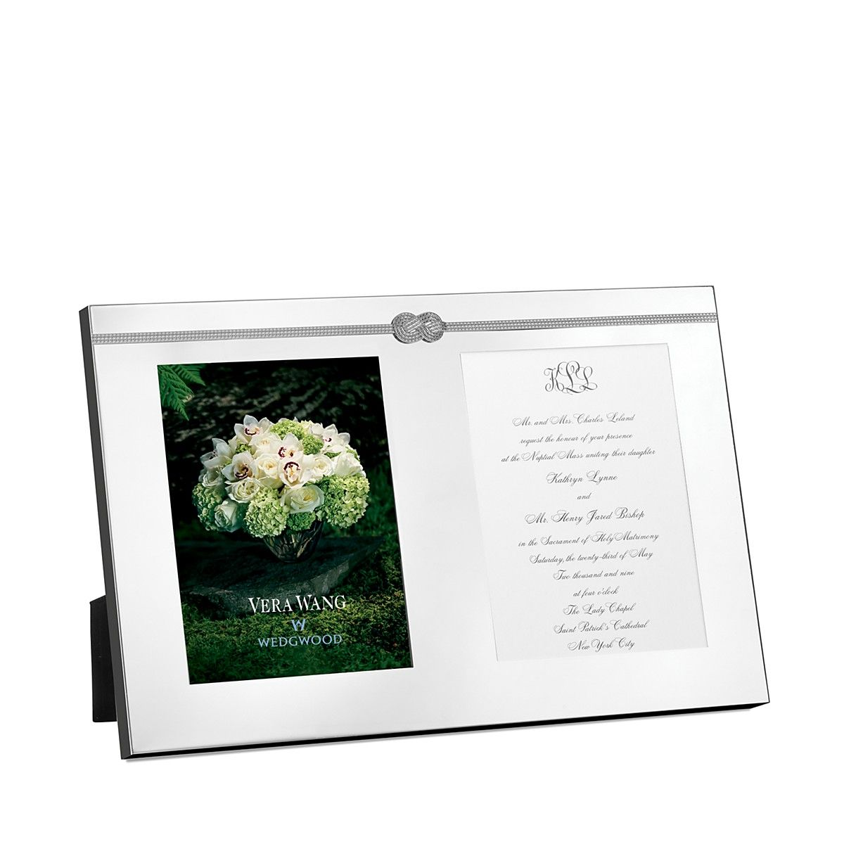 Vera Wang\'s double wedding invitation frame is perfect for framing ...