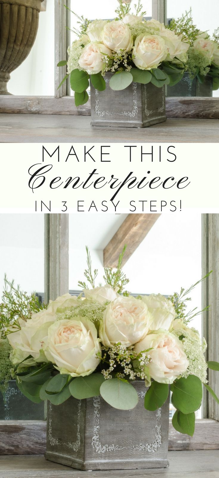 Make This Floral Arrangement in 3 Easy Steps! | Wedding centrepieces ...